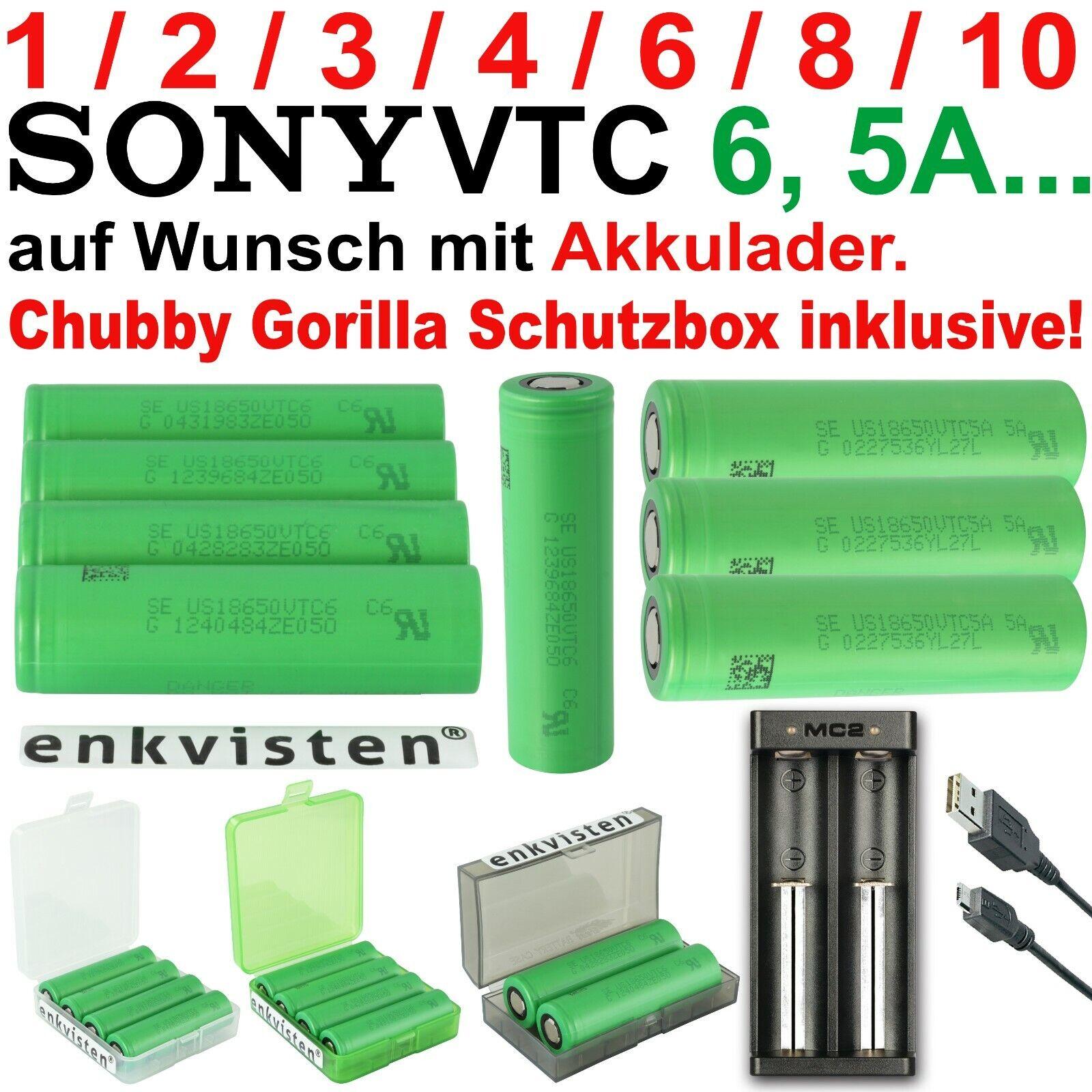 Sony Konion VTC6 US18650VTC6 18650 Akku Ladegerät XTAR MC2 / VTC5A, VTC5, VTC4
