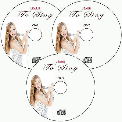 LEARN HOW TO SING, VOICE TRAINING,PRACTICE  PROFESSIONAL SINGING VOCAL on 3 CD's