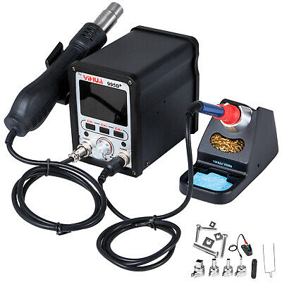 Yihua 995d Hot Air Gun Soldering Iron Station 2-in-1 Bga Rework Station 720w