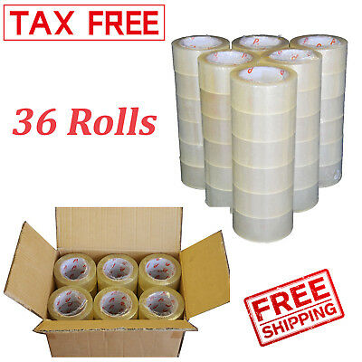 36 Rolls Clear Carton Sealing Tape Packing Package Box 2 Mil 2