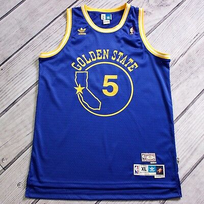 (Baron Davis XL Golden State Warriors Jersey Throwback Adidas 2006/07-2007/08 )