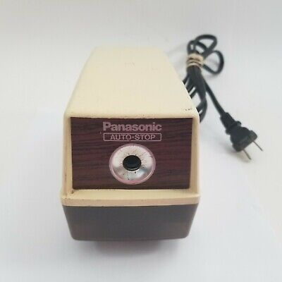 Vintage Panasonic Kp-100 Electric Pencil Sharpener With Auto Stop. Tested Works