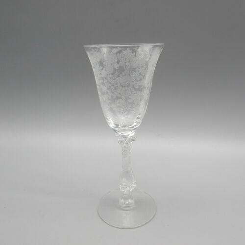 Cambridge Crystal Rose Point #3121 Wine Glass