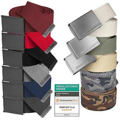 Urban Classics ® Basic Canvas Belt Damen Herren Gürtel Stoffgürtel Koppel