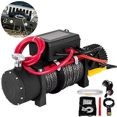 Cabrestante Eléctrico 13500lbs 12V con Cable De Acero 6123.5 kg Control Remoto