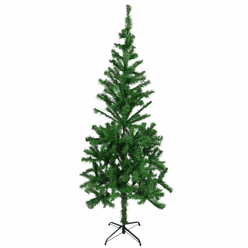 6ft+Artificial+Christmas+Xmas+Tree+Indoor+Outdoor+Decor+Bushy+Pine+Metal+Stand