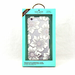 9671f2aad Kate Spade Hardshell Case for iPhone 7 Plus Hollyhock Floral Clear 297sw