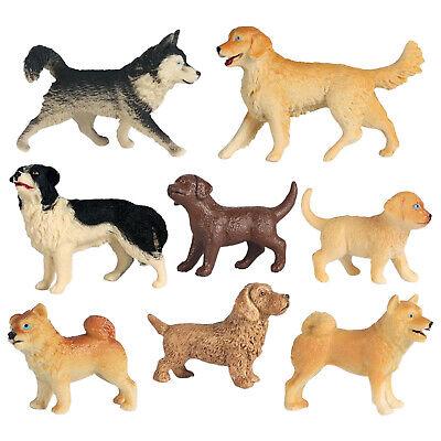 Simulierte Pet Hund Modell Puppen Kinder Kognitiven Spielzeug Kuchen Topper Auto