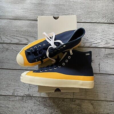 Converse Pop Trading Company Jack Purcell Hi Blue Yellow Size 8