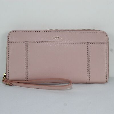 FOSSIL Pink Leather Zip Around Wallet Brand new