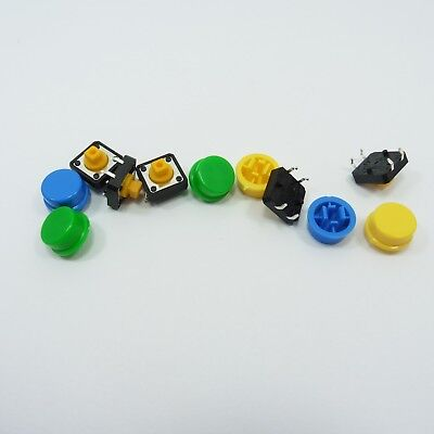 Switch Push-button-cap (12mmx12mmx7.3mm B3F-4055 Tactile Switch Push Button + Cap Tact Momentary PCB)