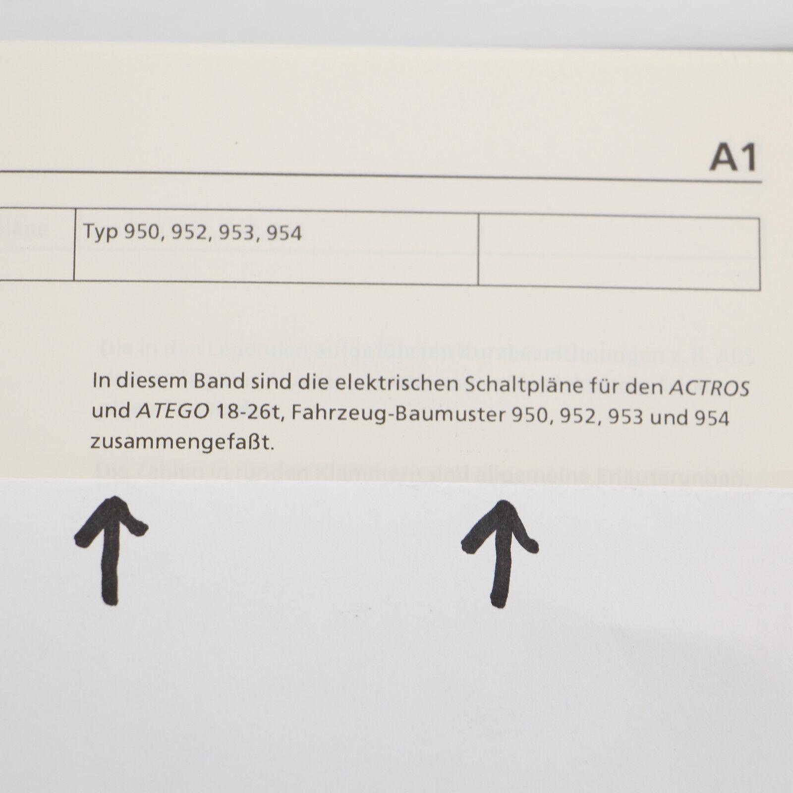 MERCEDES ACTROS MP1 Atego Werkstatthandbuch elektrische Schaltpläne ...