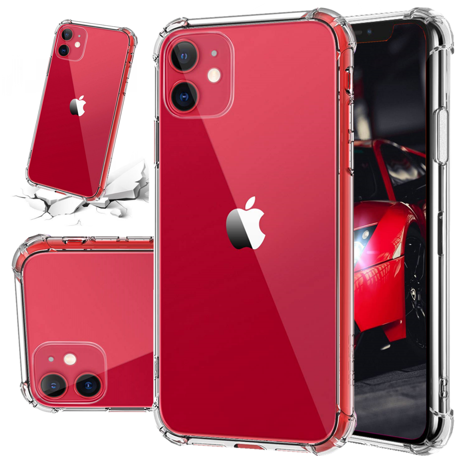 Hybrid Shockproof Thin Clear TPU Case Fits iPhone 11 Pro X 6