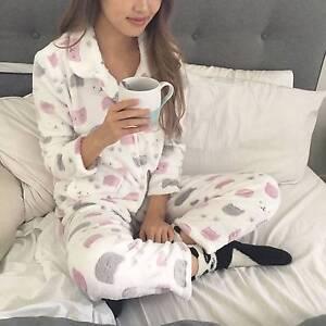 Long Sleeve Velvet Fleece Set Pajamas from size8-18 Reservoir Darebin Area Preview