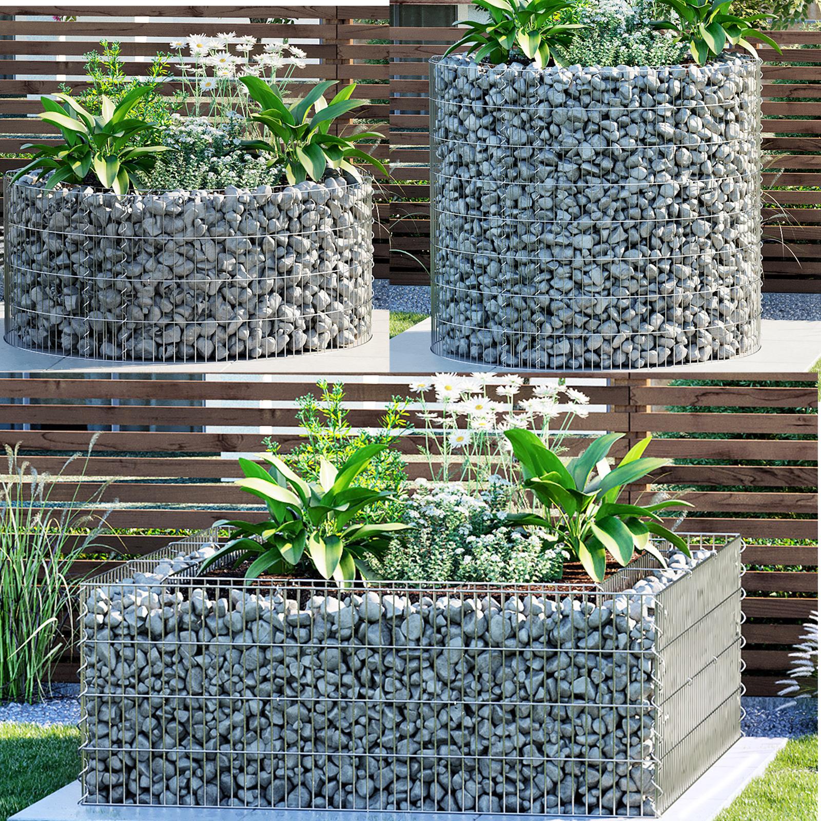 B-Ware Gabione Steingabione Steinkorb 20 cm tief Drahtkorb Mauer Wand Garten