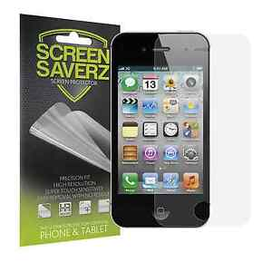 6X HD Clear LCD Screen Protector Shield Guard Cover Film for Apple iPhone 4 4S