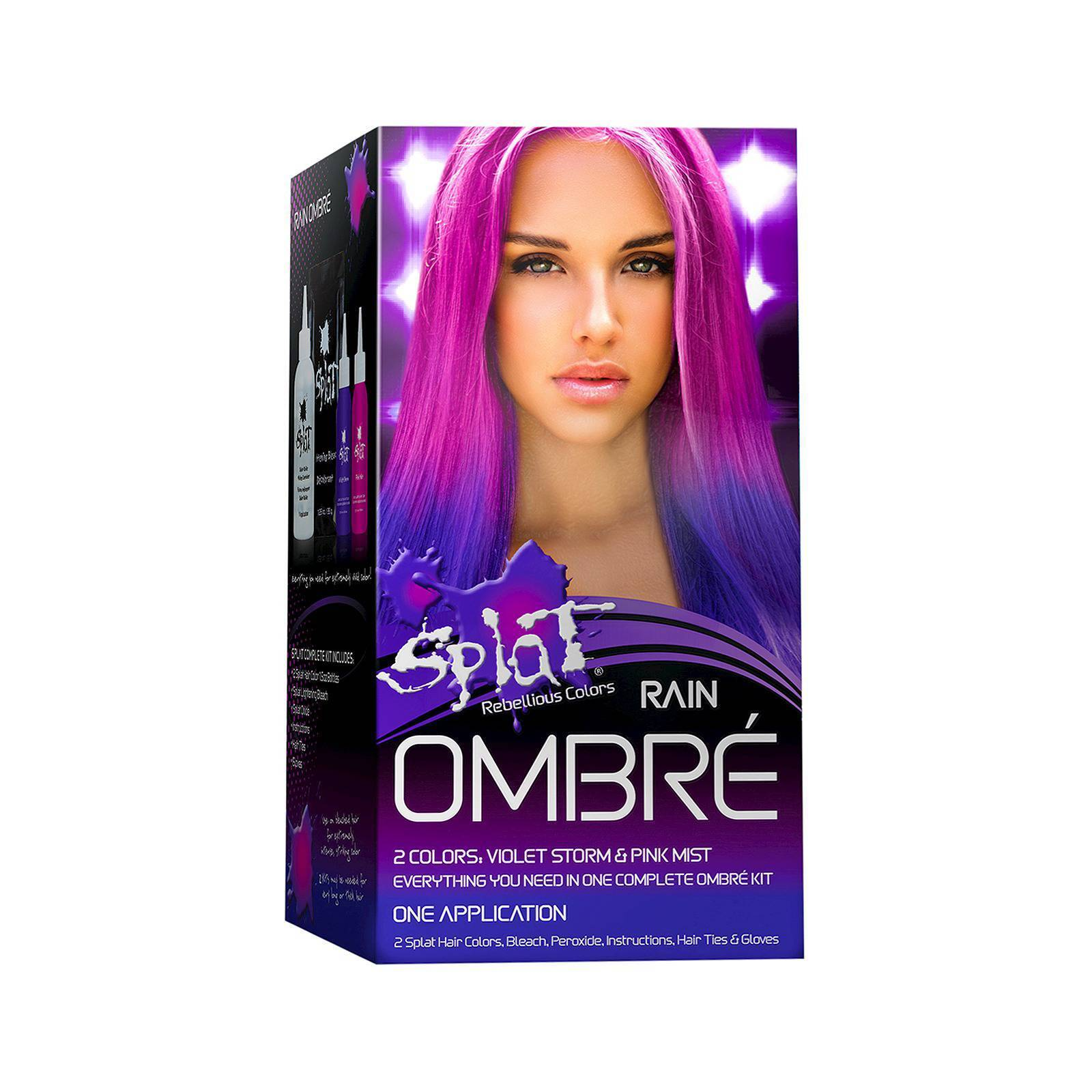Splat Rebellious Colors Hair Coloring Complete Kit Rain Ombre Ebay