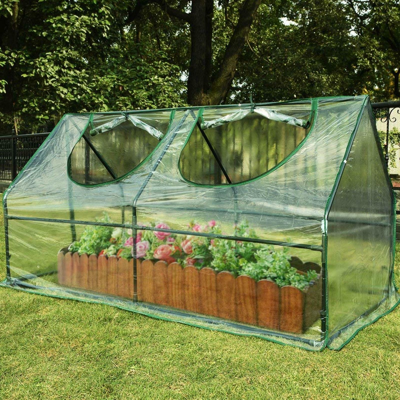 Amazing Details About Quictent Mini Green House Small Greenhouse Plastic Pvc Backyard Tent Kit Garden Home Interior And Landscaping Oversignezvosmurscom