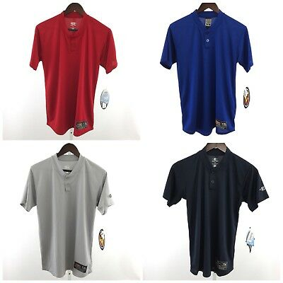 Easton 2 Button Placket Jerseys Dry Fit  Youth Sizes S/M/L/XL Various Colors