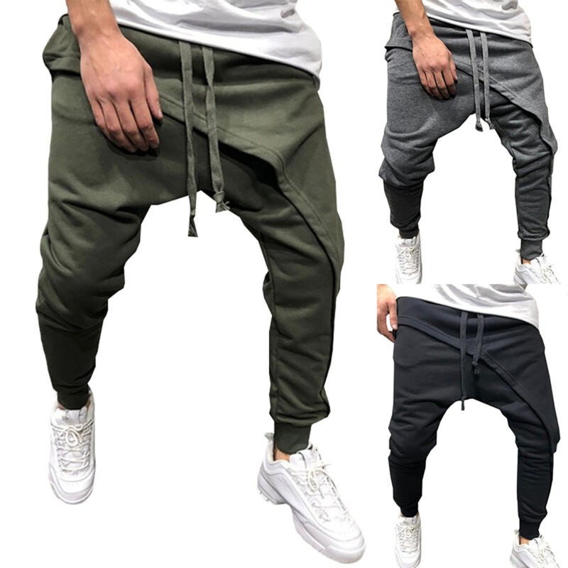 men casual harem pants jogger sport sweatpants