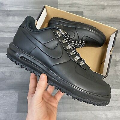 NIKE LUNAR FORCE LF1 DUCKBOOT LOW BLACK UK11 US12 EU46 CM30 AA1125...
