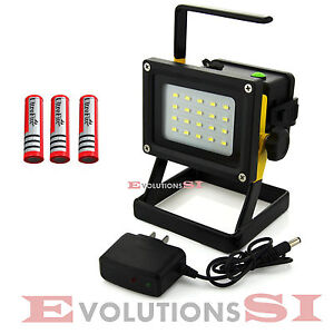 foco led 10w portatil y recargable bateria lampara