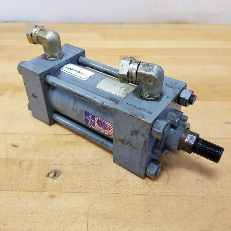 "Miller HV74 Hydraulic Cylinder. 2.5"" Bore, 3"" Stroke, 1"" Rod Dia. 4300 PSI"