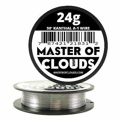 50 ft - 24 Gauge AWG A1 Kanthal Round Wire 0.51mm Resistance A-1 24g GA 50'