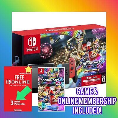 ✅ Nintendo Switch Mario Kart 8 Console - Deluxe Bundle w/Free 3 Month Membership