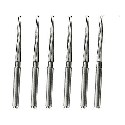 6pcs Dental Surgical Burs Drill Tungsten Carbide Bone Cutters Zekrya Fg 28mm