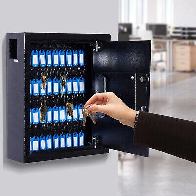 40 Key Steel Wall Mount Lockable Key Organizer Storage Cabinet Wtags Office