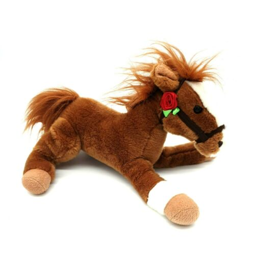 Collectable Wells Fargo Pony Horse Mack 2012 Brown Rose Toy Plush Sanitized