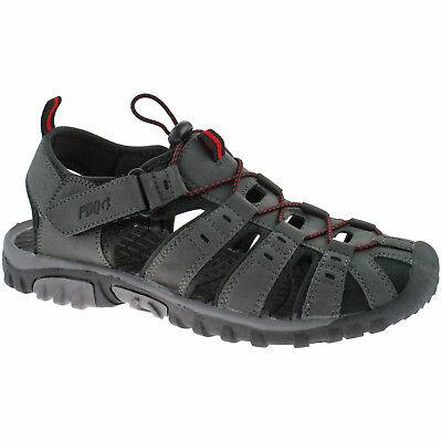 Herren Pdq Geschlossene Sport Sandalen 4 - 12 Walking Trail Grau M040F Kd Sport Walking Sandalen