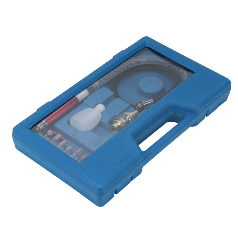 17 Pcs Air Micro Die Grinder Kit Tools Mini Pencil Polishing Rotary Cutting Set/>