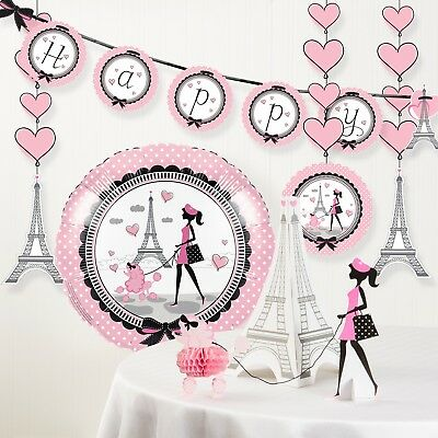 Party in Paris Birthday Party Decorations - Party Decorations Paris