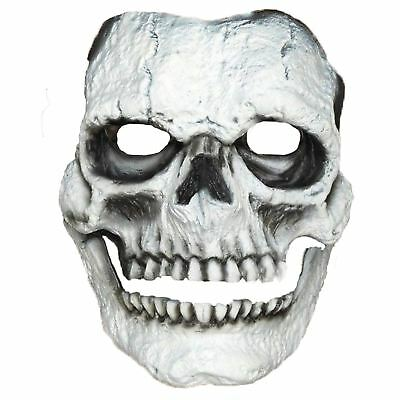Adults Halloween White Skeleton Skull Face Mask Prosthetic SFX Makeup Latex Foam