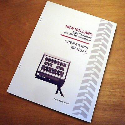 New Holland Bale Command Controller Operator's Manual 848 853 855 Round -