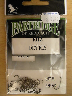 Partridge H1B//CA Pack of 25 Fly Tying Hooks Size 8