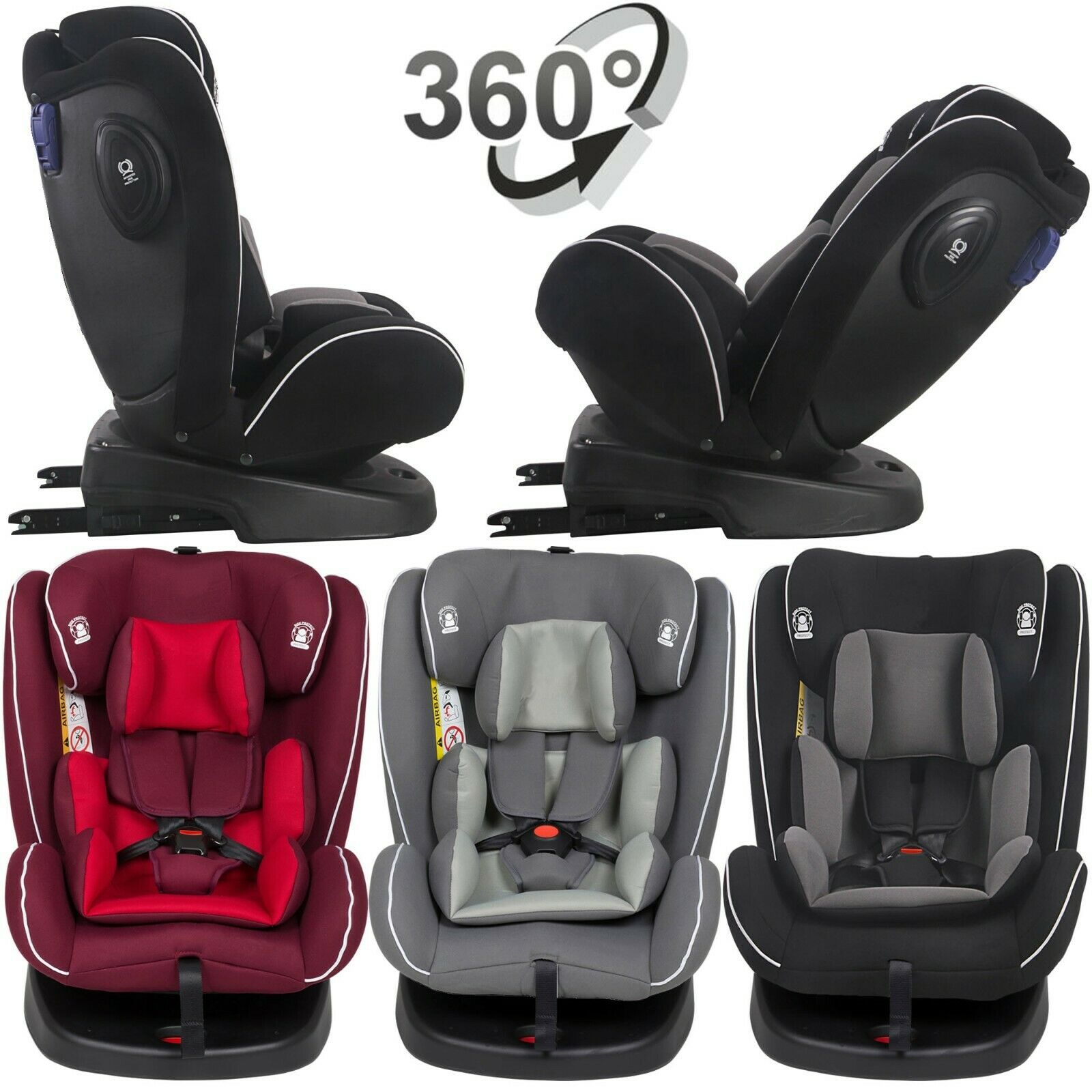 Autositz Kindersitz Isofix 0-36 kg Reboarder 360° Drehbar 0+1+2+3 Baby Sitz Avon