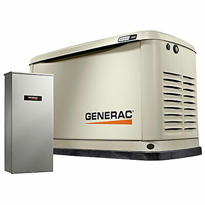 Generac Guardian 11 Kw Home Gas Powered Generator With Mobile Link Damaged