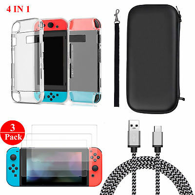 Купить EEEKit - Accessories Case Bag+Shell Cover+Charging Cable+Protector for Nintendo Switch