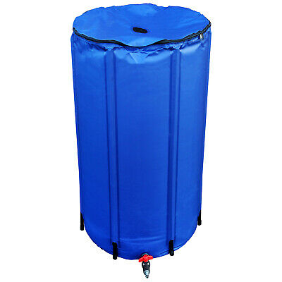 400L Litre Hydroponics Flexi Collapsible Tank Fold Up Water Butt Storage - iws
