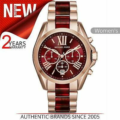 Michael Kors Bradshaw Women's Watch MK6270¦Chronograph Red Dial¦Dual Tone Strap