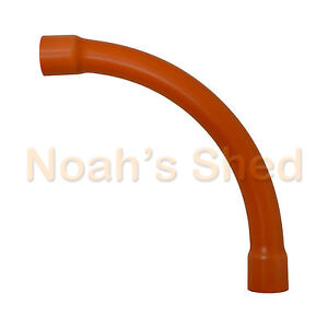 10-x-25mm-Orange-PVC-Sweep-Bend-Electrical-Pipe-Conduit-Accessories-90-Degree