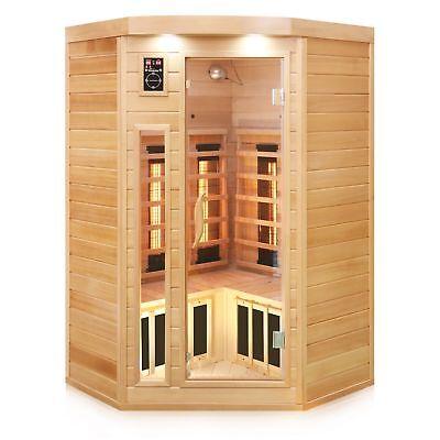 TroniTechnik Infrarotkabine Infrarotsauna Sauna Wärmekabine Vollspektrum Karbon