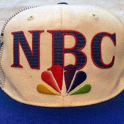 Nbc Sports Specialities Snapback Hat Advertising Cap Peacock Broadcasting Blue