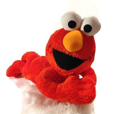 """Sesame Street Elmo Laying Down Large Plush 24"""" Stuffed Animal Fisher Price"""