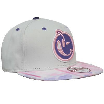 New Era Yums Snapback Hat Baseball Flat Brim Adjustable Cap White Pink