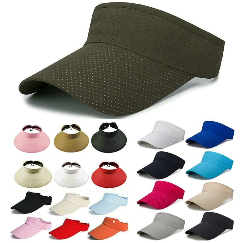 Damen Herren Visor Hüte Sonnenblende Sonnenschutz Sports Golf Tennis Kappe Cap