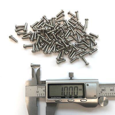 (PKG of 100) Metric M3-0.5 x 10mm Machine Screw, Phillips Pan Head, Steel M3x10